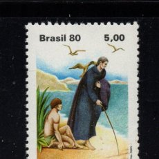 Sellos: BRASIL 1454** - AÑO 1980 - BEATIFICACION DEL PADRE JOSE DE ANCHIETA. Lote 295716618