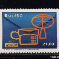 Sellos: BRASIL 1535** - AÑO 1982 - 15º ANIVERSARIO DEL MINISTERIO DE COMUNICACIONES. Lote 295717158
