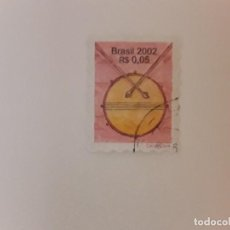 Sellos: AÑO 2002 BRASIL SELLO USADO. Lote 296958888