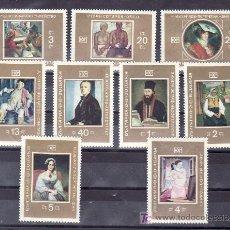 Sellos: BULGARIA 1717/25 SIN CHARNELA, PINTURA, CUADROS DE LA GALERIA NACIONAL DE LAS ARTES EN SOFIA, . Lote 10562789