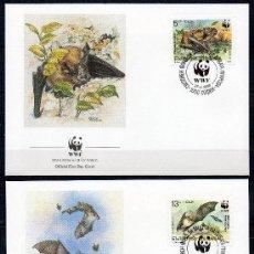 Sellos: BULGARIA 1989 YV 3231/34 SPD - WWF PROTECCIÓN DE LA FAUNA - MURCIÉLAGOS (VER FOTOS). Lote 21992017