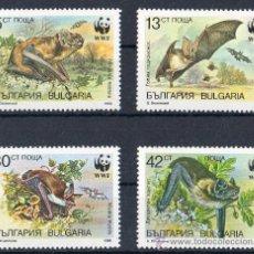 Sellos: BULGARIA 1989 YV 3231/34*** WWF PROTECCIÓN DE LA FAUNA - MURCIÉLAGOS - MAMÍFEROS - NATURALEZA. Lote 21992327