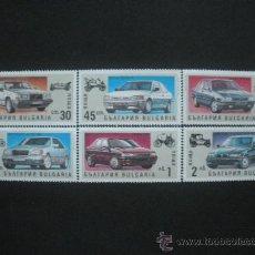Sellos: BULGARIA 1992 IVERT 3433/8 *** HISTORIA DEL AUTOMOVIL - COCHES MODERNOS. Lote 30091325