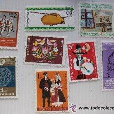 Sellos: LOTE DE 8 SELLOS DE BULGARIA DE LA EPOCA COMUNISTA : VARIOS. Lote 43463904