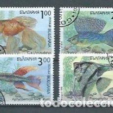 Sellos: BULGARIA,1994,PECES DE ACUARIO,YVERT 3506-3509,USADOS. Lote 154494741