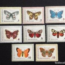 Sellos: BULGARIA Nº YVERT 1155/2** AÑO 1962. FAUNA. MARIPOSAS. SERIE CON CHARNELA. Lote 120364227