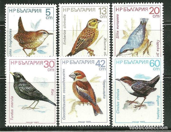 BULGARIA 1987 IVERT 3125/30 *** FAUNA - PAJAROS - AVES (Sellos - Extranjero - Europa - Bulgaria)