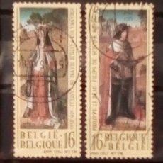 Sellos: BÉLGICA BODA DE FELIPE EL HERMOSO Y JUANA DE CASTILLA SERIE DE SELLOS USADOS. Lote 155967772