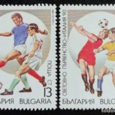 Sellos: 1990. DEPORTES. BULGARIA. 3303 / 3306. CAMPEONATO MUNDO FÚTBOL ITALIA. NUEVO.. Lote 162157310