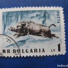 Sellos: -BULGARIA 1958, JABALI, YVERT 926. Lote 179145391