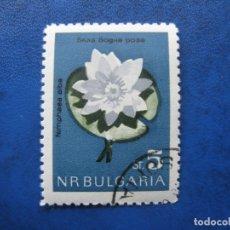 Sellos: -BULGARIA 1963, FLORES, YVERT 1211. Lote 179146106