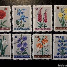 Sellos: BULGARIA. YVERT 1475/82 SERIE COMPLETA USADA. FLORA. FLORES.. Lote 200366835