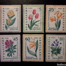 Sellos: BULGARIA. YVERT 1018/23 SERIE COMPLETA USADA. FLORA. FLORES.. Lote 200373272