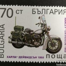 Sellos: BULGARIA,HARLEY DAVIDSON DE 1950 MNH, 1992 (FOTOGRAFÍA REAL). Lote 208092258