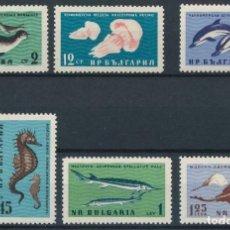 Sellos: BULGARIA 1961 IVERT 1080/85 *** FAUNA MARINA DEL MAR NEGRO. Lote 208861493