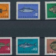 Sellos: BULGARIA 1965 IVERT 1328/33 *** FAUNA - PECES DIVERSOS. Lote 208862900