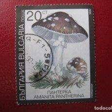 Sellos: +BULGARIA 1991, SETAS VENENOSAS, YVERT 3354. Lote 208870411