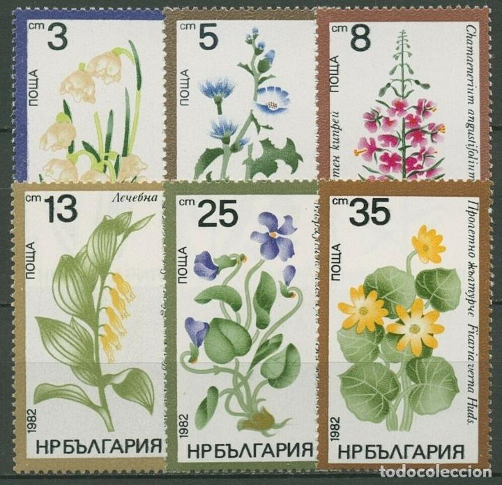 BULGARIA 1982 IVERT 2696/701 *** FLORA - FLORES DIVRSAS (Sellos - Extranjero - Europa - Bulgaria)