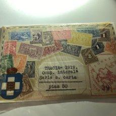 Sellos: COLECCION SELLOS TRACIA -1919 OCUP INTERAL SERIE S. CARTA . VER FOTOS. Lote 233762460