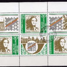 Sellos: BULGARIA, ,MINII-SHEET, ,1990, MICHEL 3838KB. Lote 235711365