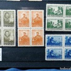 Sellos: ESTALIN BULGARIA YVERT A33/6 AÑO 1946 NUEVO * CHANELA BLOQUE DE 4. Lote 243888920