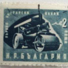 Sellos: SELLO DE BULGARIA 2 L - 1951 - APISONADORA - USADO SIN SEÑAL DE FIJASELLOS. Lote 270091678