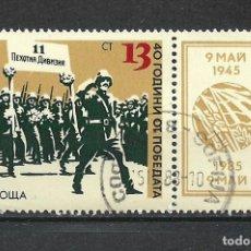 Sellos: SELLO BULGARIA 1983 MILITAR - 19/39. Lote 288014443