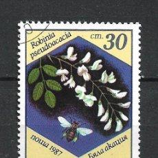 Sellos: SELLO BULGARIA 1987 FLORA - 19/38. Lote 288015928