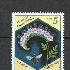 Sellos: SELLO BULGARIA 1987 FLORA - 19/38. Lote 288015988