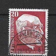 Sellos: ALEMANIA 1957 MICHEL 278 USADO - 19/38. Lote 288018203