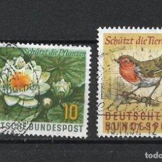 Sellos: ALEMANIA 1957 MICHEL 274/275 USADO - 19/38. Lote 288018378