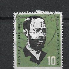 Sellos: ALEMANIA 1957 MICHEL 252 USADO - 19/38. Lote 288018473