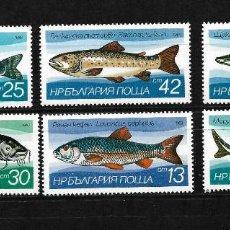 Sellos: BULGARIA 1983, SERIE IV. 2755/60 TEMA FAUNA MARINA PECES. MNH.. Lote 293781683