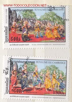 CAMBOYA 1998. 45 ANIVERSARIO DE LA INDEPENDENCIA DE CAMBOYA (Sellos - Extranjero - Asia - Camboya)