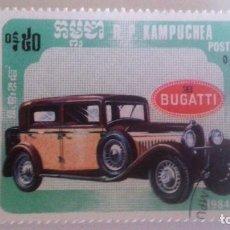 Sellos: CAMBOYA 1984 - BUGATTI. Lote 91002205