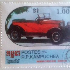 Sellos: CAMBOYA 1986 - MERCEDES. Lote 91002430