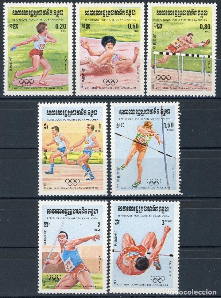 CAMBOYA - KAMPUCHEA 1984 IVERT 442/8 *** JUEGOS OLIMPICOS DE LOS ANGELES - DEPORTES (Sellos - Extranjero - Asia - Camboya)
