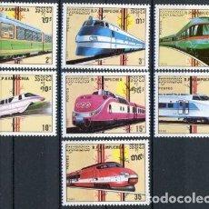 Sellos: CAMBOYA - KAMPUCHEA 1989 IVERT 864/70 *** FERROCARRILES DE ALTA VELOCIDAD - LOCOMOTORAS - TRENES. Lote 107521215