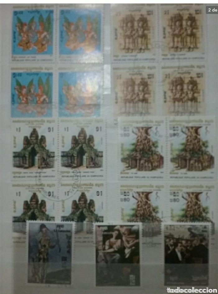 Sellos: Clasificador (170 x 220 cm)12Fotos\Sellos R. Kampuchea (Camboya)mtdos/espacio/fauna/flora/deporte/ - Foto 2 - 134955815