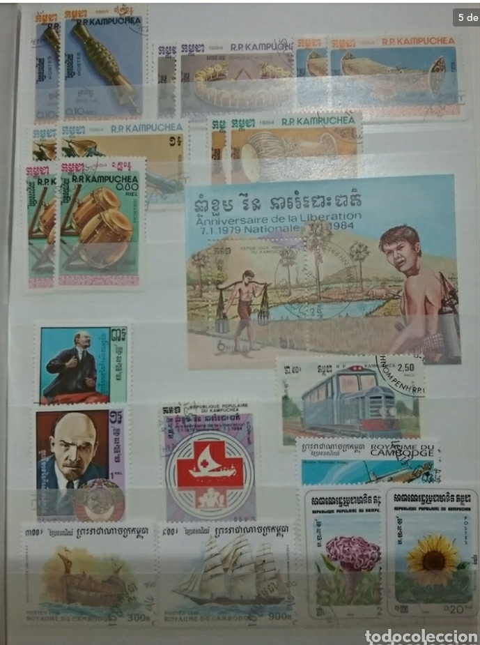 Sellos: Clasificador (170 x 220 cm)12Fotos\Sellos R. Kampuchea (Camboya)mtdos/espacio/fauna/flora/deporte/ - Foto 5 - 134955815