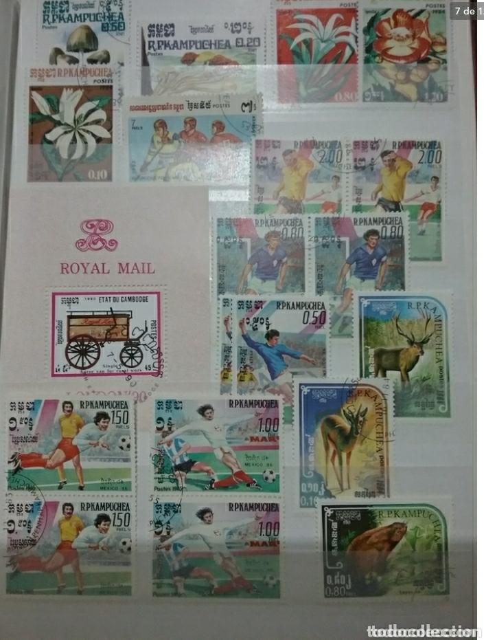 Sellos: Clasificador (170 x 220 cm)12Fotos\Sellos R. Kampuchea (Camboya)mtdos/espacio/fauna/flora/deporte/ - Foto 7 - 134955815