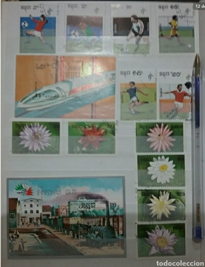 Sellos: Clasificador (170 x 220 cm)12Fotos\Sellos R. Kampuchea (Camboya)mtdos/espacio/fauna/flora/deporte/ - Foto 12 - 134955815