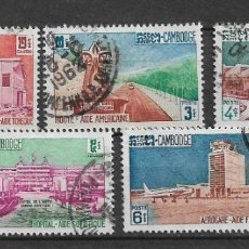 Selos: CAMBOYA 1961 USADO 101-105 (5) 1.80 - 2/47. Lote 154432690