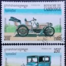 Sellos: 1994. AUTOMÓVILES. CAMBOYA. 1176, 1177. COCHES MERCEDES / 1901, FORD T / 1927. SERIE CORTA. USADO.. Lote 168798888