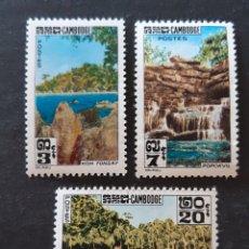 Sellos: CAMBOYA, 136-38**, 1963. Lote 194110293