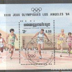 Sellos: KAMPUCHEA 1984 OLYMPIC GAMES MI.B137 USED TA.136. Lote 198272065