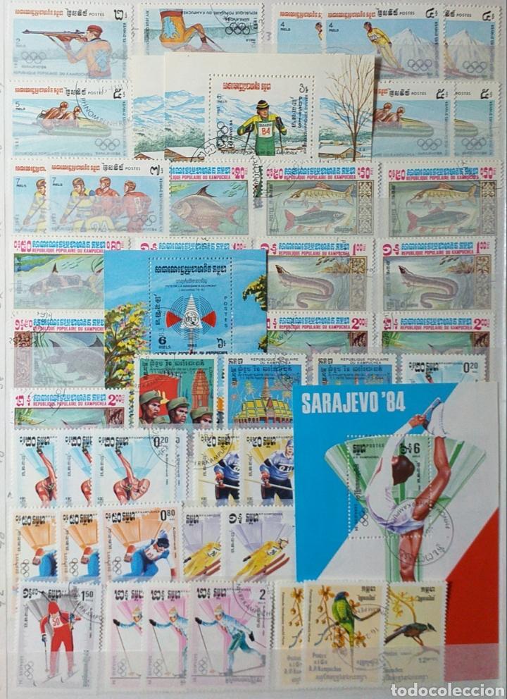 Sellos: Colección de sellos de Camboya bastante completa en álbum de 16 páginas - Foto 4 - 200853081