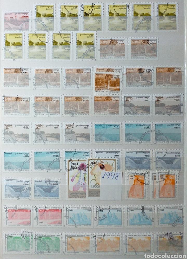 Sellos: Colección de sellos de Camboya bastante completa en álbum de 16 páginas - Foto 24 - 200853081