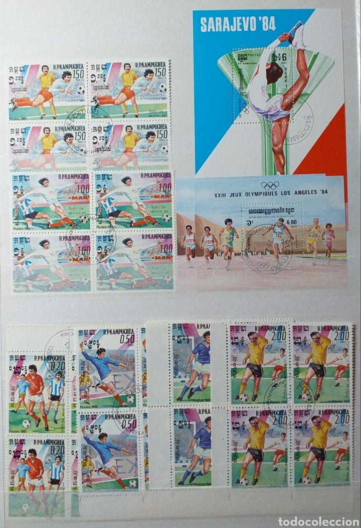 Sellos: Colección de sellos de Camboya bastante completa en álbum de 16 páginas - Foto 28 - 200853081