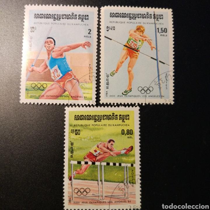 SELLOS CAMBOYA DEPORTES AÑO 1984 (Sellos - Extranjero - Asia - Camboya)